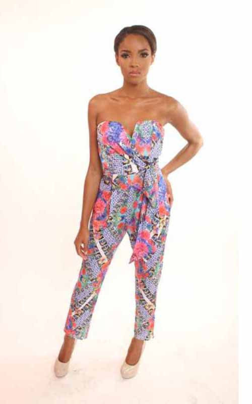 sleeveless floral jumpsuit - Miss Jumpin