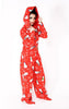 comfy fleece hoodie red christmas onesie - Miss Jumpin