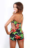 cutout tropical print romper jumper - Miss Jumpin