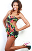tropical floral bodycon jumper romper - Miss Jumpin