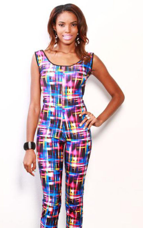 rainbow electric print jumpsuit - Miss Jumpin