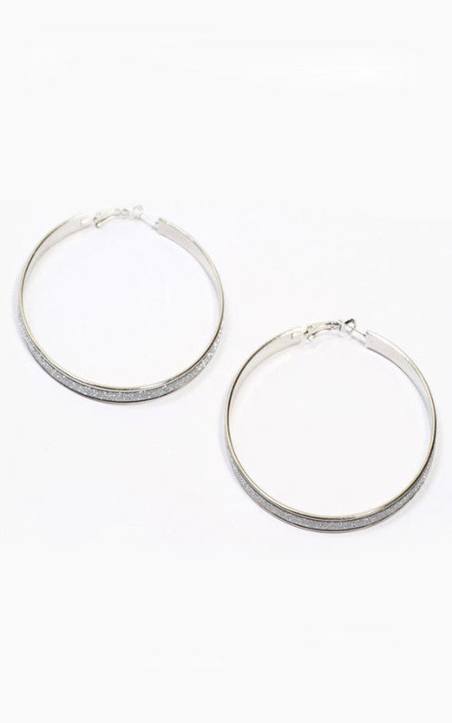 silver hoop earrings - Miss Jumpin