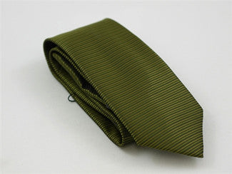 Horizontal Stripe Green Tie & Pocket Square - Tie Factory