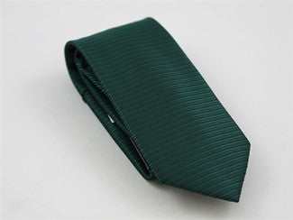 Horizontal Stripe Dark Green Tie & Pocket Square - Tie Factory