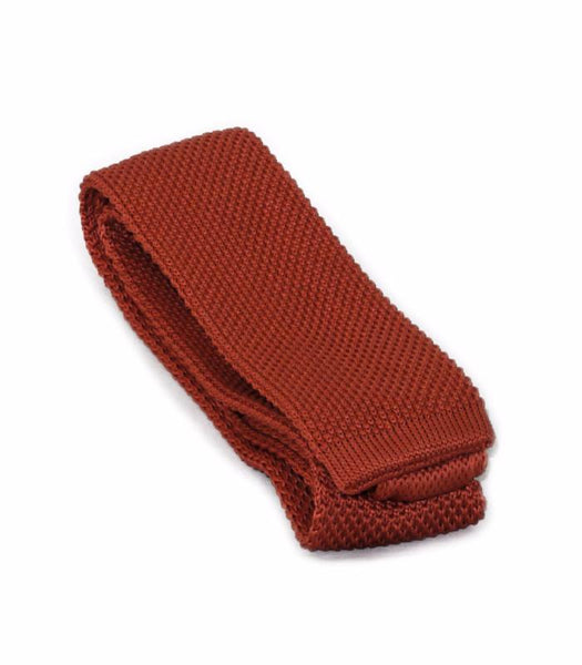 Apricot Orange Knit Tie