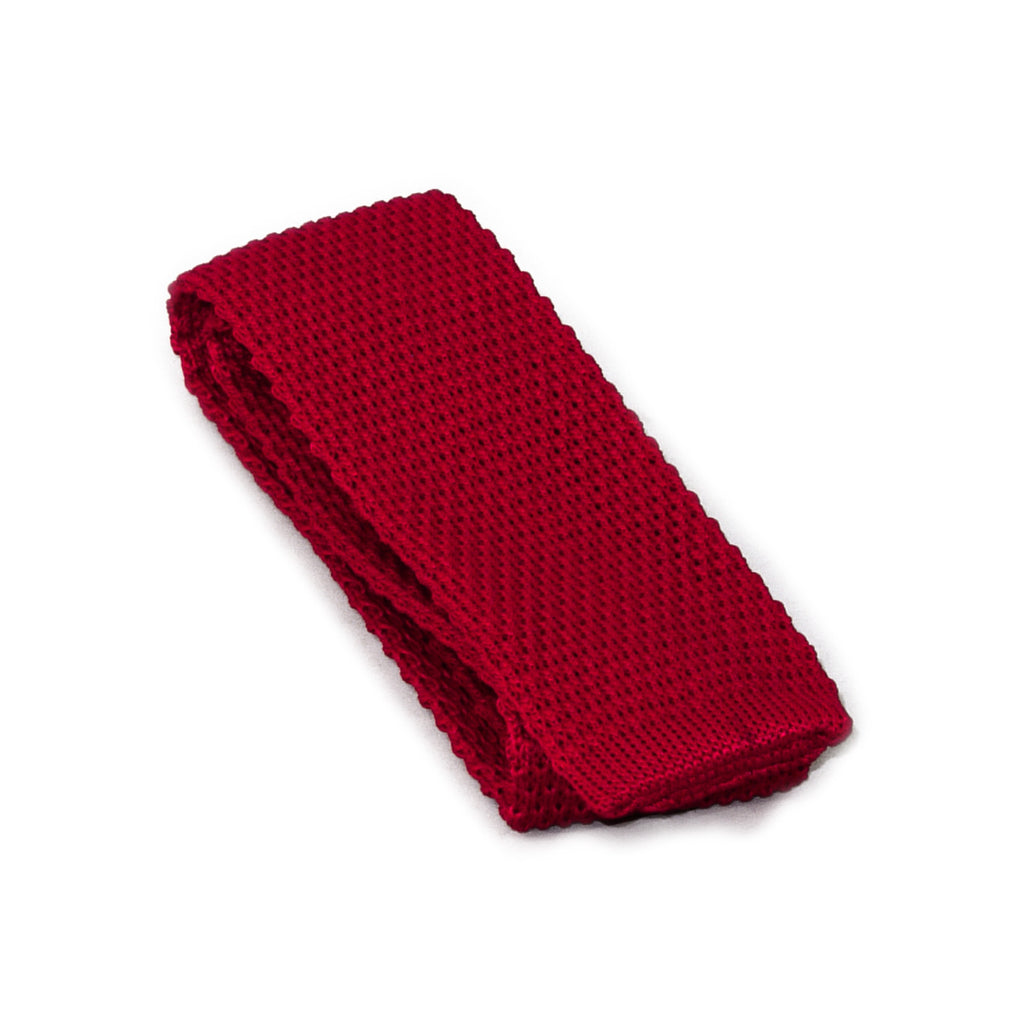 Cranberry Rose Knit Tie