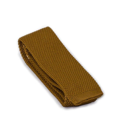 Honey Brown Knit Tie
