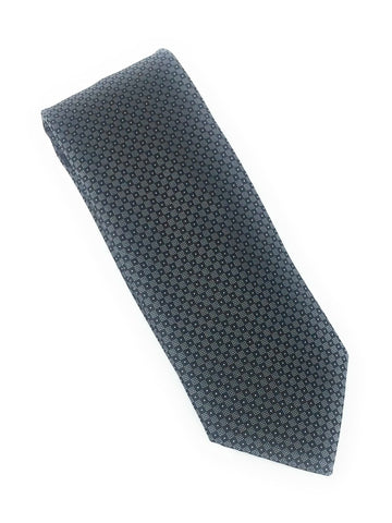 Black & Charcoal Grey Squares Silk Tie Set