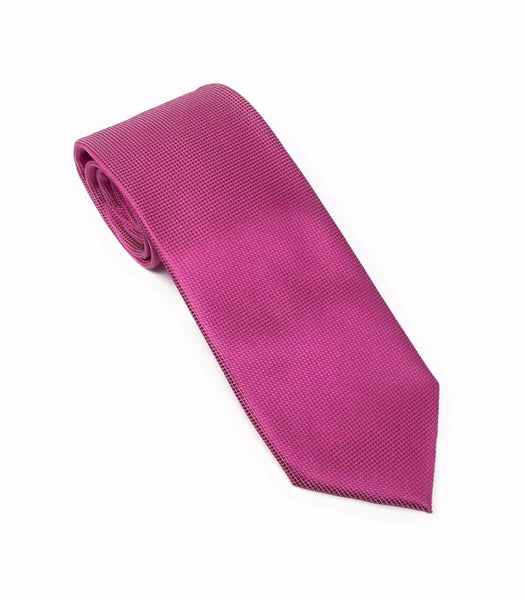 Pin Dot Medium Violet Silk Tie Set Including Pocket Square