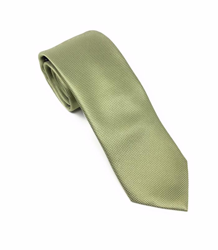 Pin Dot Solid Light Sage Silk Tie With Matching Pocket Square