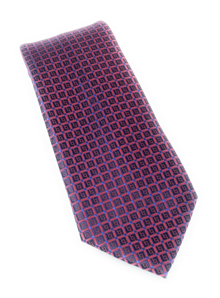 Red Designs Silk Tie
