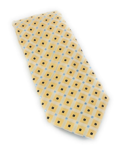 Yellow & Blue Mini Square Silk Tie