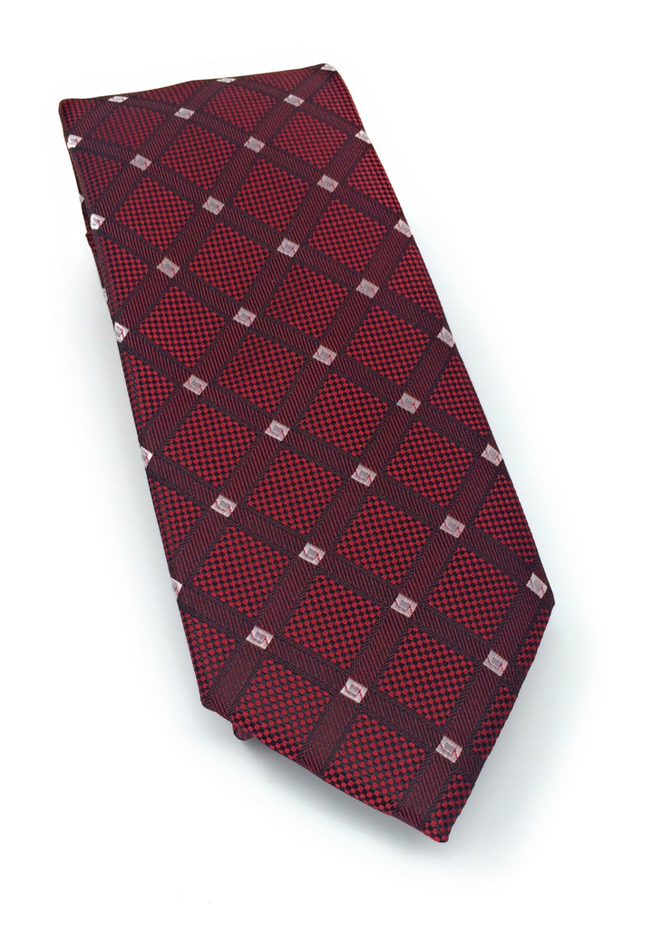 Burgandy Abstract Silk Tie