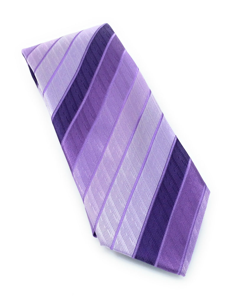 Light Purple Diagonal Stripe Silk Tie