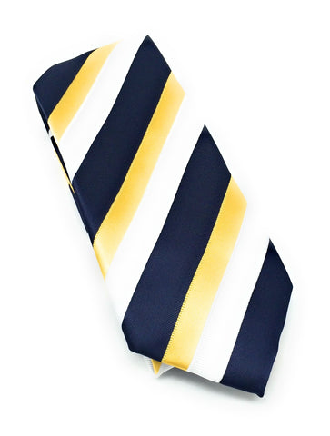 Yellow & Navy Regal Tie Set