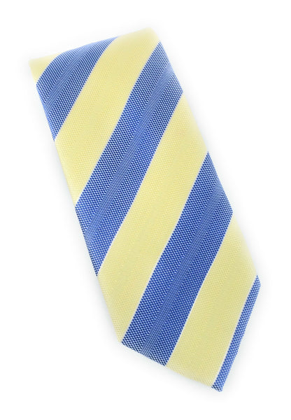 Yellow & Sky Blue Regal Tie Set