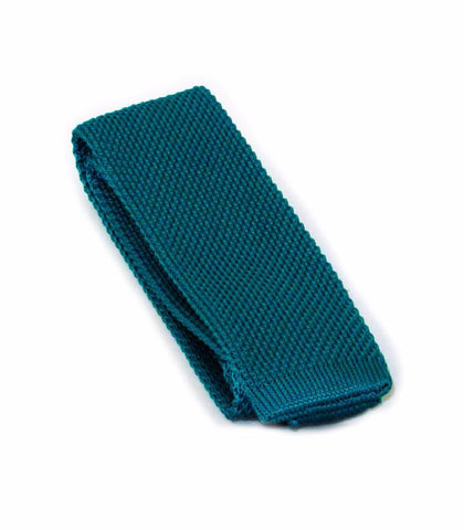 Teal Blue Knit Tie