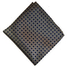 Tiled Black Pre Tied Silk Bow Tie With Matching Pocket Square