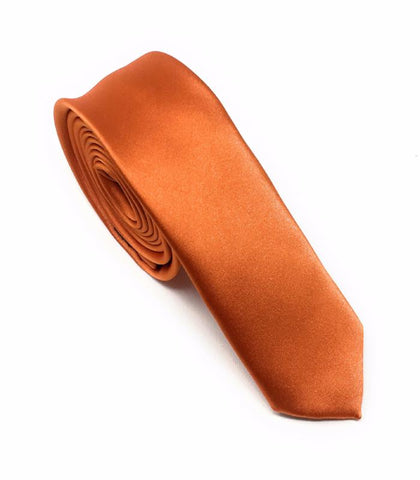Flame Solid Skinny Silk Tie (Tie Only)
