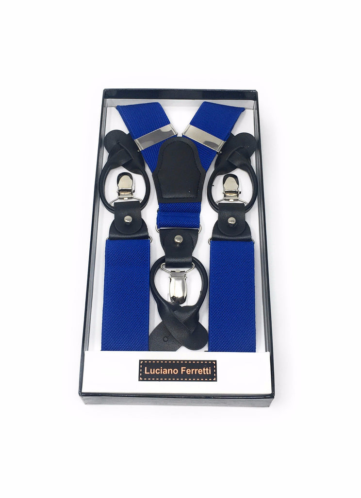 Solid Royal Blue Suspenders