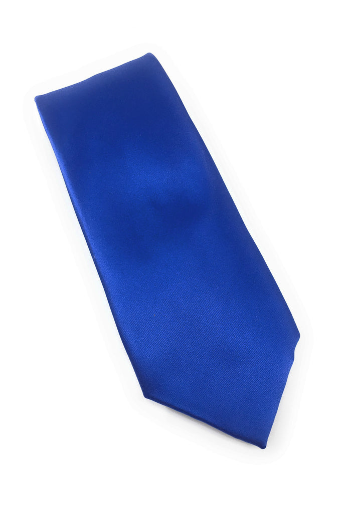 Tidal Solid Silk Extra Long Tie With Matching Pocket Square