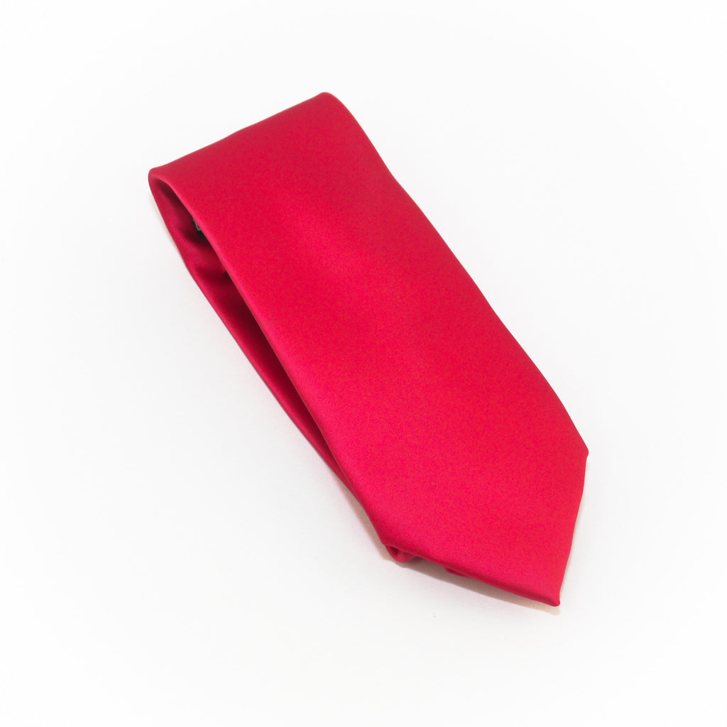 Raspberry Solid Extra Long Silk Tie