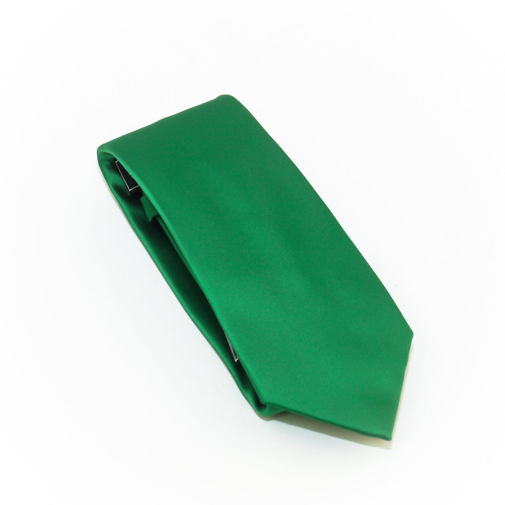 Pine Solid Extra Long Silk Tie