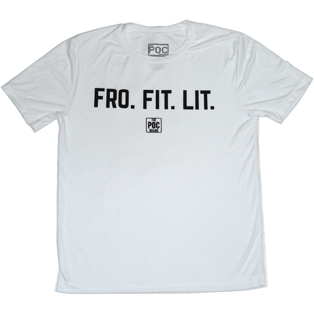 Fro Fit Lit White | The POC Brand - Black Owned Clothing