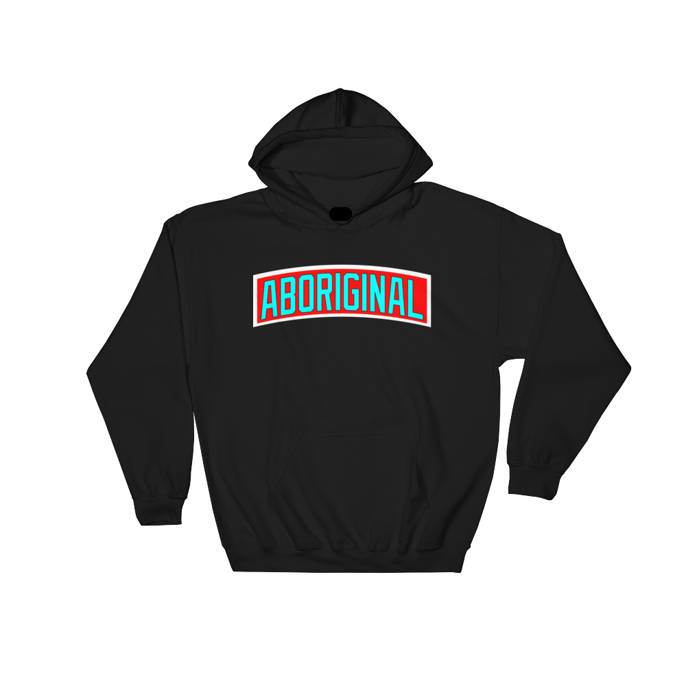 Aboriginal Banner Hoodie (Blue) | The POC Brand - Black Owned Clothing
