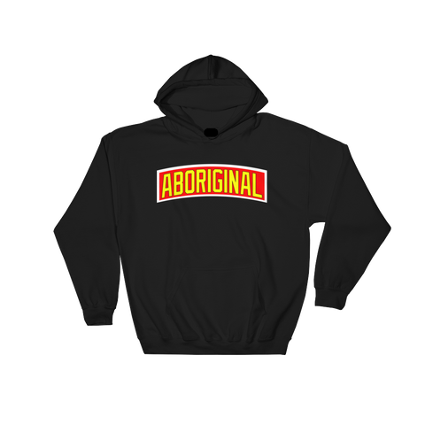 Aboriginal Banner Hoodie (Yellow) | The POC Brand - Black Owned Clothing