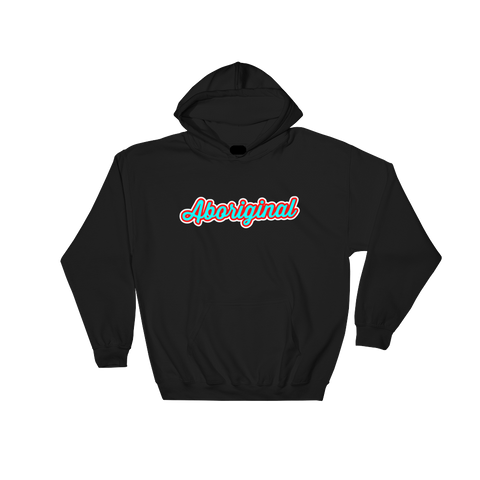 Aboriginal Script Hoodie (Blue) | The POC Brand - Black Owned Clothing