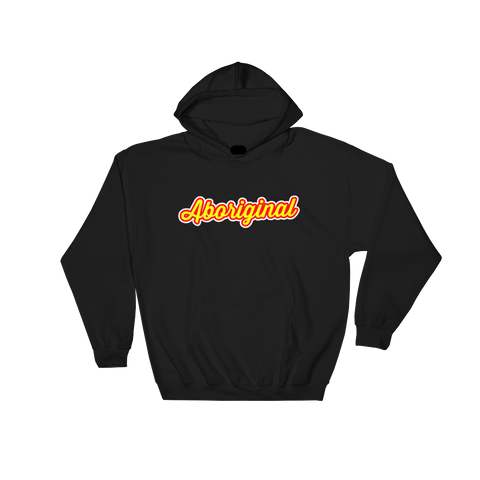 Aboriginal Script Hoodie (Yellow) | The POC Brand - Black Owned Clothing