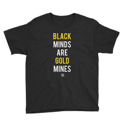 Black Gold Youth Tee | The POC Brand - Black Owned Clothing