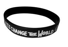 Load image into Gallery viewer, LETS CHANGE THE WORLD Wristband
