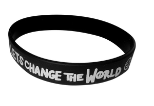 LETS CHANGE THE WORLD Wristband