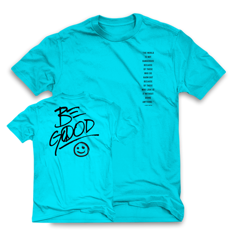 Be A Good Human tee (BLUE)