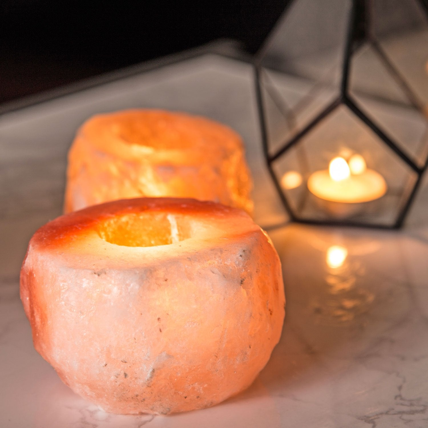 Natural Himalayan Salt Candle Holders