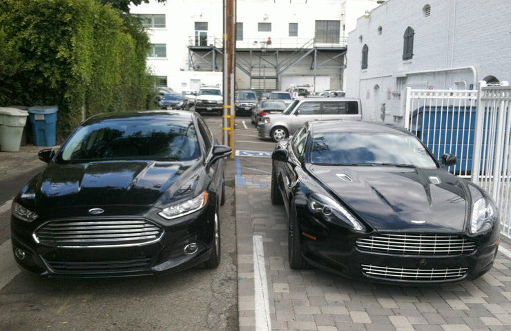 Ford Fusion vs Aston Martin