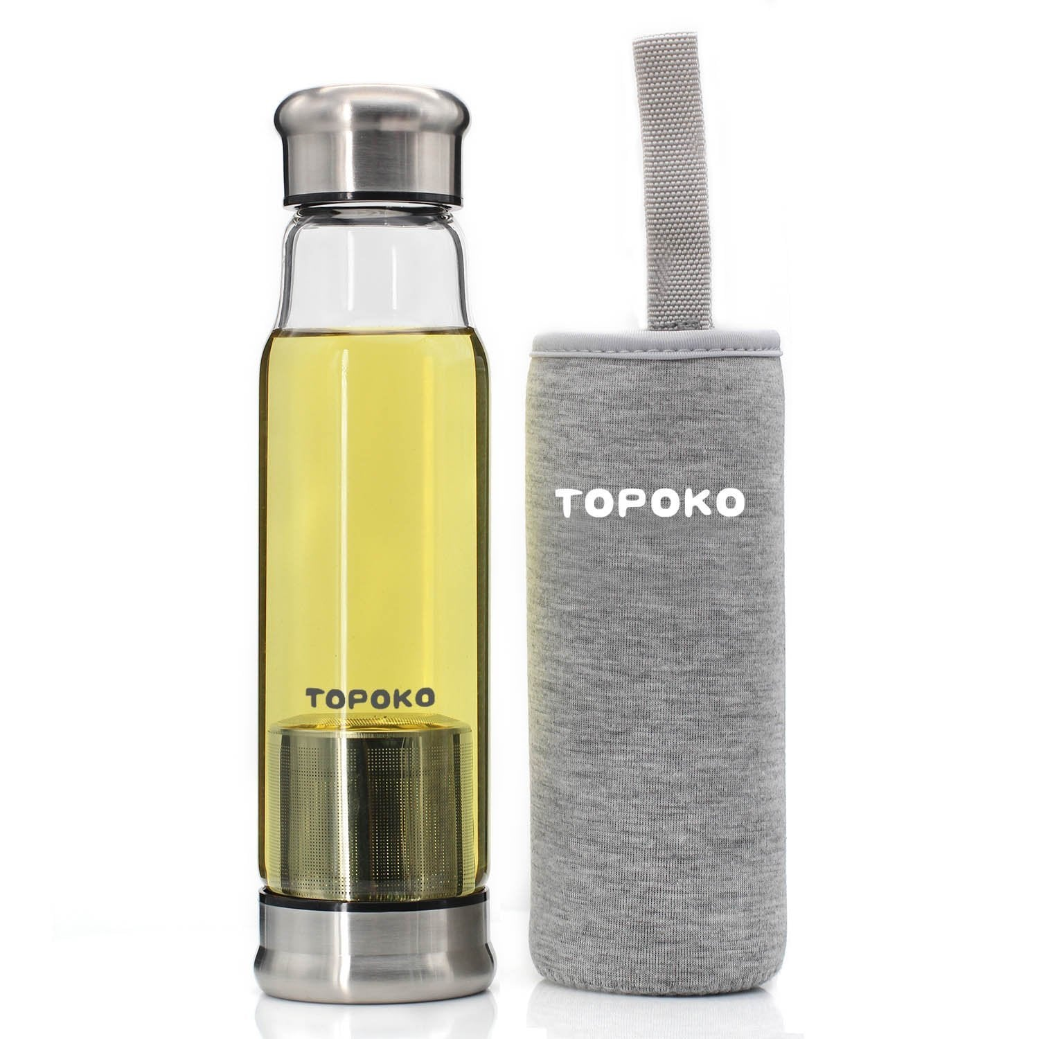 TOPOKO Infuser Glass Water Bottle
