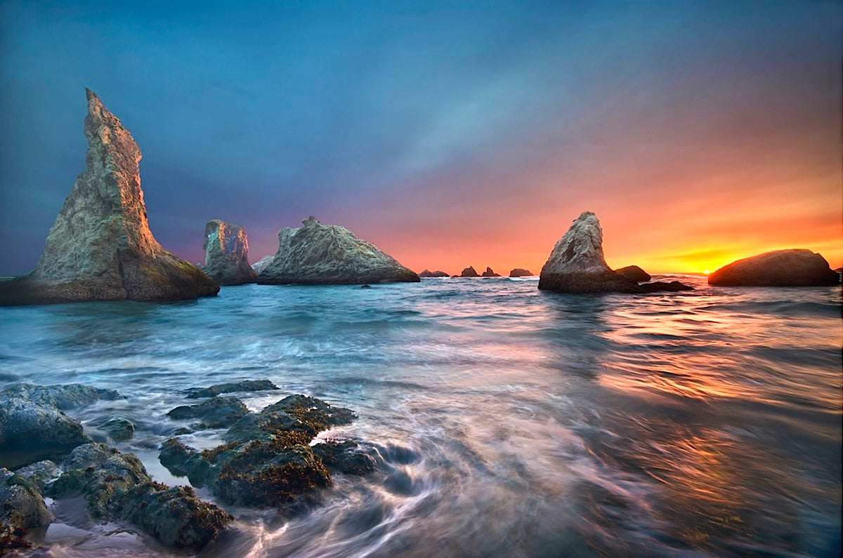 Sea stacks on Bandon Beach, Oregon