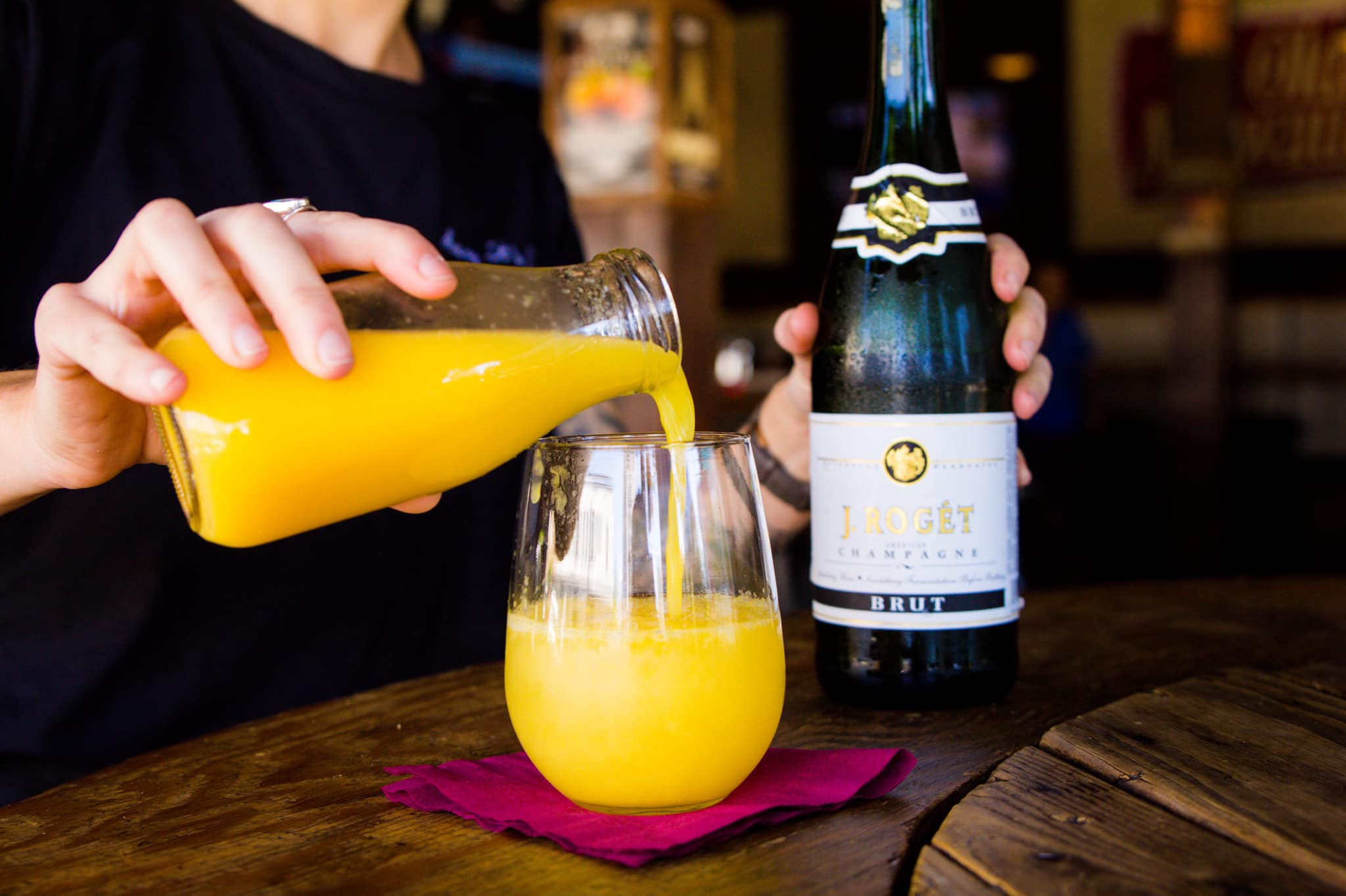 Bootlegger bottomless mimosa weekend brunch