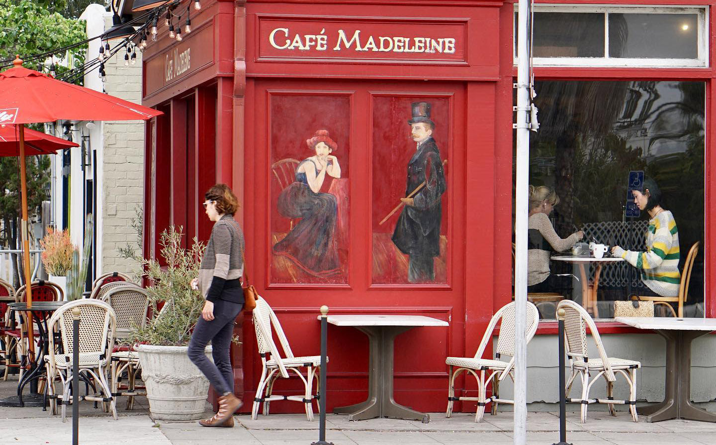 Best SD Restaurants Outdoor Seating: Cafe Madeleine