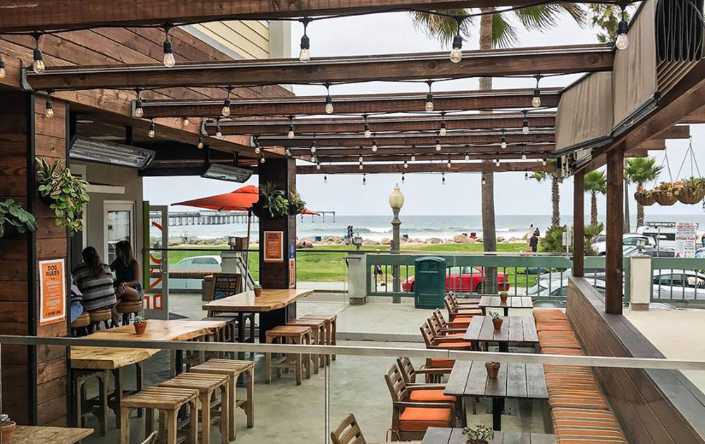 Best SD Restaurants Outdoor Seating: OB Surf Lodge