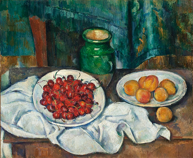 Paul Cezanne - Still Life with Cherries and Peaches