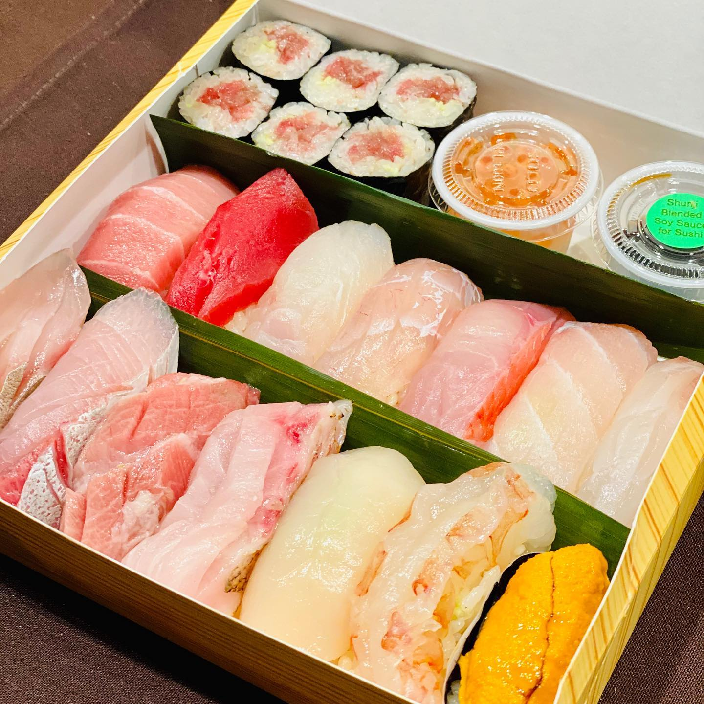 Assorted sushi from Shunji in Los Angeles