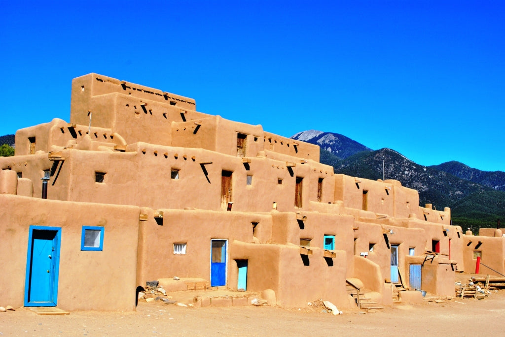 Taos Pueblo adobe buildings a World Heritage Site