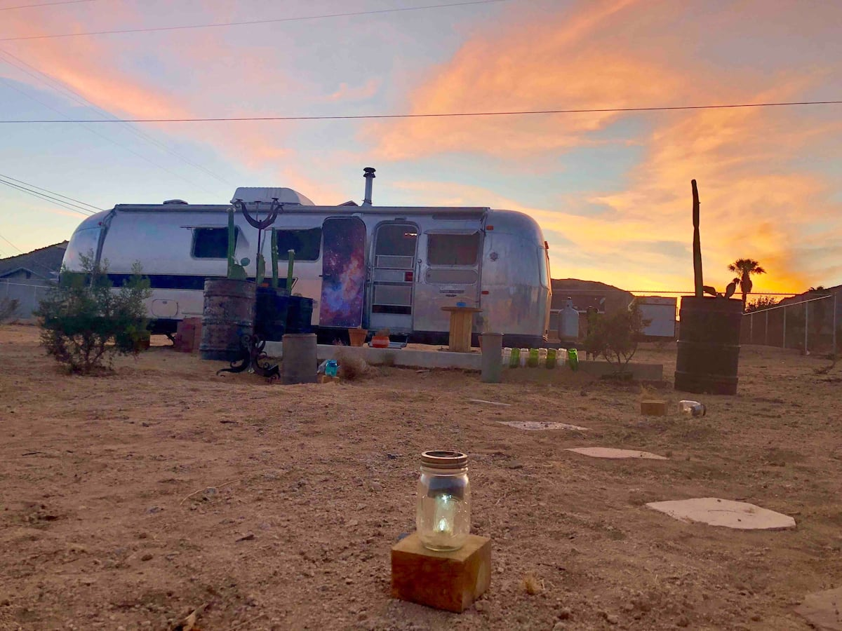 Vintage Airstream in Joshua Tree