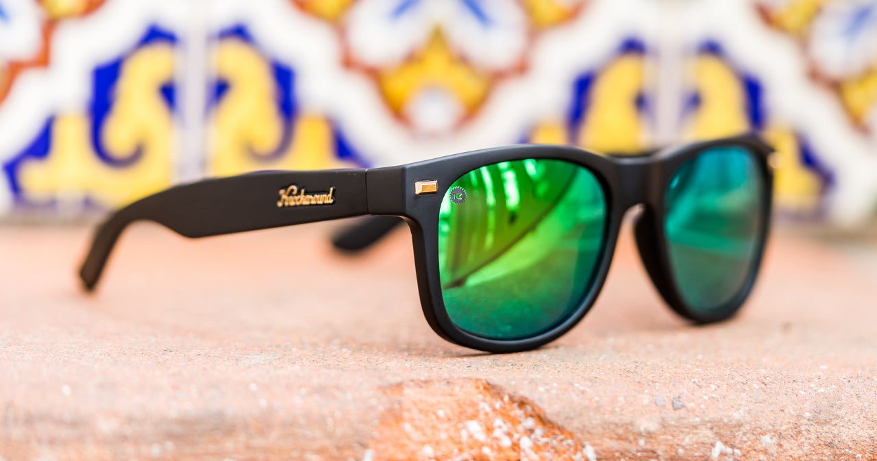 Black and Green Lens Sunglasses