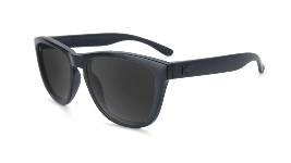 Matte black kids sunglasses with black lenses
