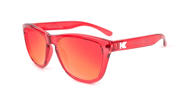 Clear red kids sunglasses with red lenses